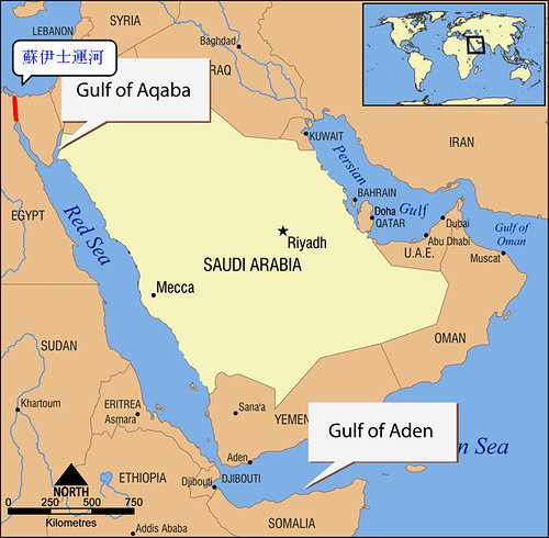 红海,是介於阿拉伯半岛和非洲大陆之间的狭长海域, -嘻辣人的摆宝